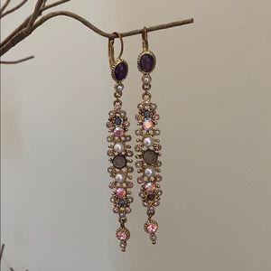 Vintage Long Sparkly Earrings